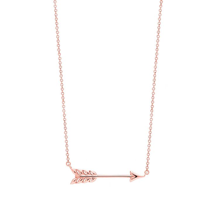 Tiffany Hearts™ arrow pendant in RUBEDO® metal, small. | Tiffany & Co. £285