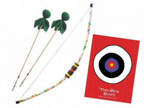 "Two Bros Bows' kids archery set, discovered by The Grommet, has puffy-not-pointy ""arrows"", making it a safe way to play. Made in the USA by two young brothers."
