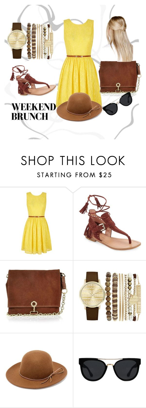 """""""Summery weekend brunch"""" by ogor2812 on Polyvore featuring Yumi, Sigerson Morrison, River Island, Jessica Carlyle, RHYTHM, Quay and Boohoo"""
