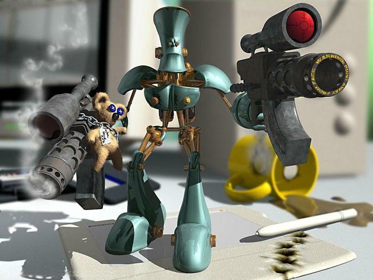 Robotar - skrivbordsbakgrund: http://wallpapic.se/konst-och-kreativa/robotar/wallpaper-26594