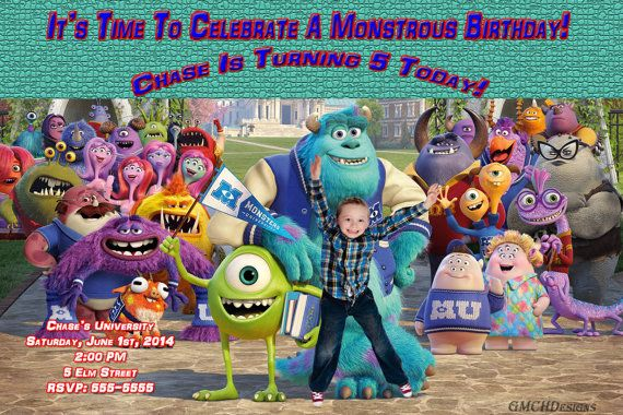 Monsters University Personalized Custom Photo by GMCHDesigns, $8.00