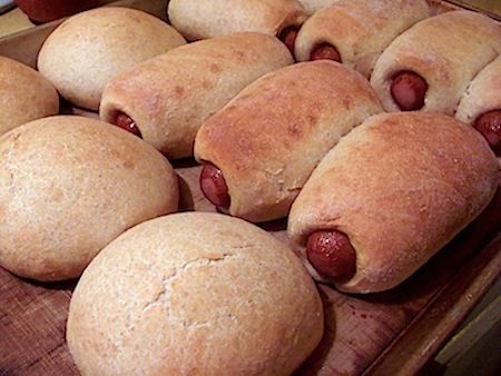 Easy homemade pigs-in-a-blanket --- just tried this -- The dough for this recipe is nothing to write home about. I'll try it again with a different type.
