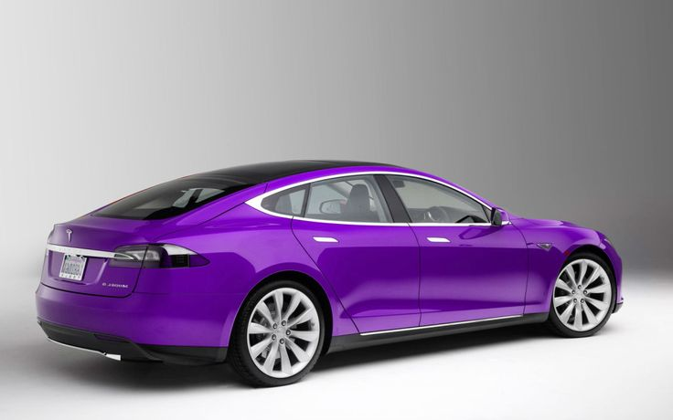 2014 Tesla Model S – Beautiful Purple Tesla Car