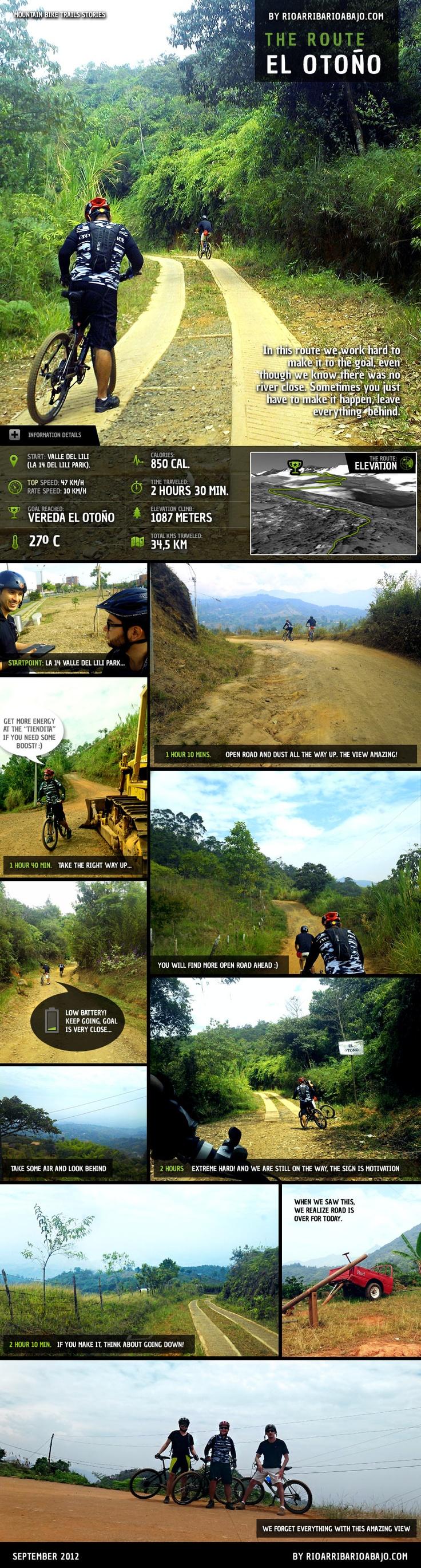 Ruta: El Otoño, una de las más exigentes que hemos encontrado! :)