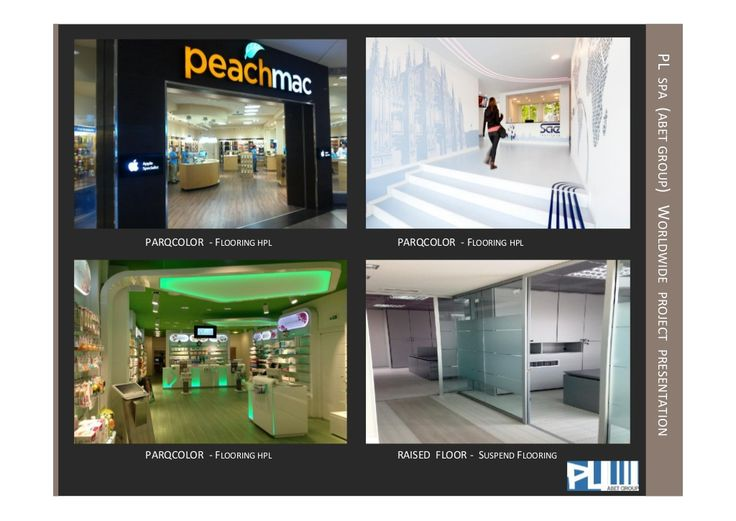 Parqcolor (hpl flooring) -  worldwide project by PL spa (Abet Group) by Renato Viganò via slideshare