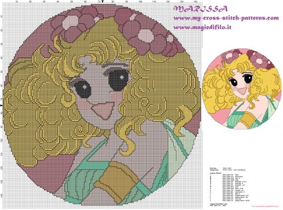 cross stitch pattern for candy candy pillow room