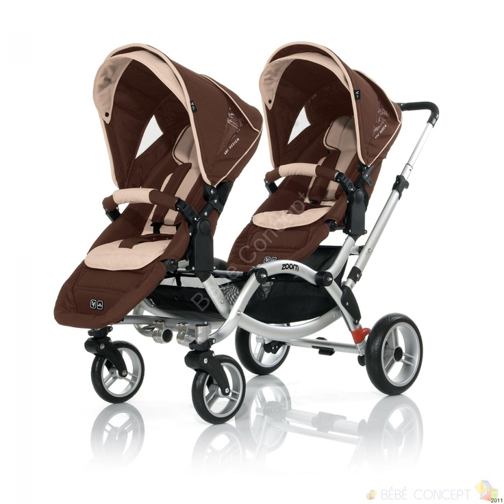 Poussette Jumeaux Zoom Abc Design dark brown