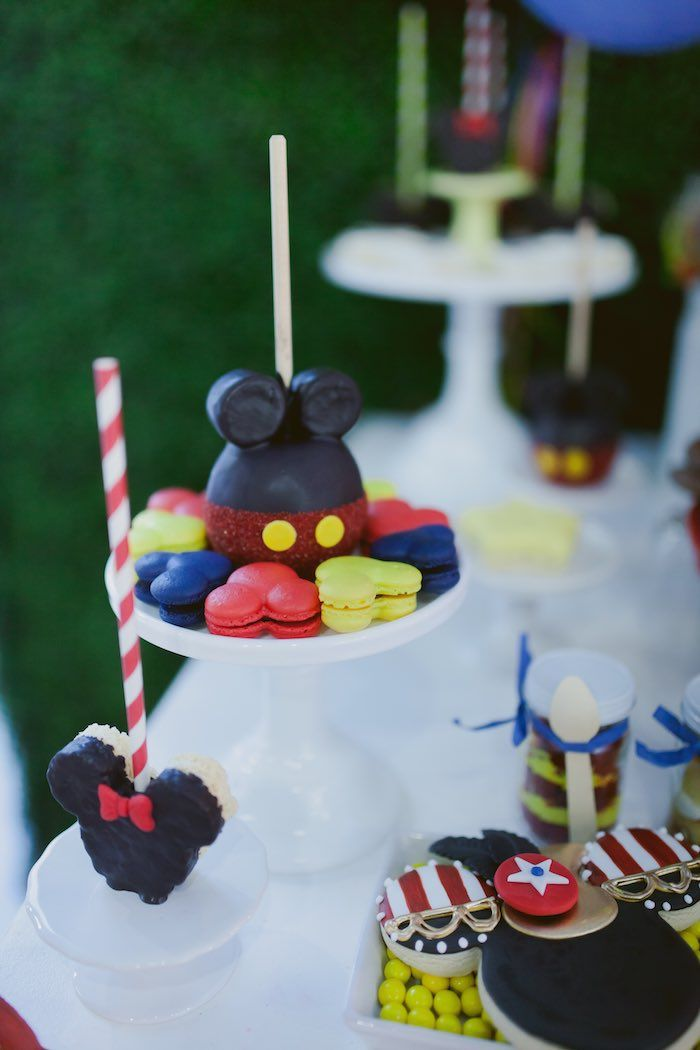 Mickey Mouse Cake Pop and Macarons from a Mickey Mouse Circus Birthday Party via Kara's Party Ideas KarasPartyIdeas.com (24)