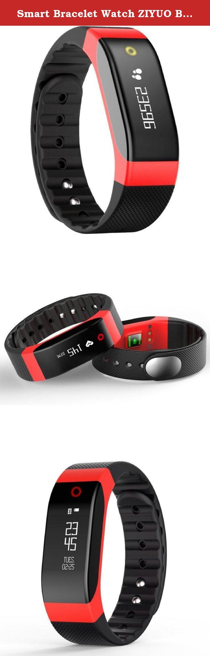 Smart Bracelet Watch ZIYUO Bluetooth Colorful Breathing Light Smart Touch Bracelet Fitness Wristband Heart Rate Monitor Pedometer, calories, distance Tracking (Red). Note: Before you use it, you must download APP(sma). Before you purchase, you must confirm the band length suitable to you or not. Main Feature Heart Rate :Dynamic heart rate monitor 24 hours, test every 30 minutes Activity tracking :Pedometer, calories, distance Support:Sleep monitor ,Call notification,Message notification...