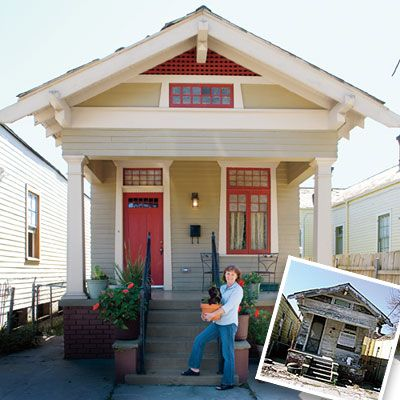 Treatment in roof pitch exterior wall. New Orleans Shotgun style home.... Perfect for retirement
