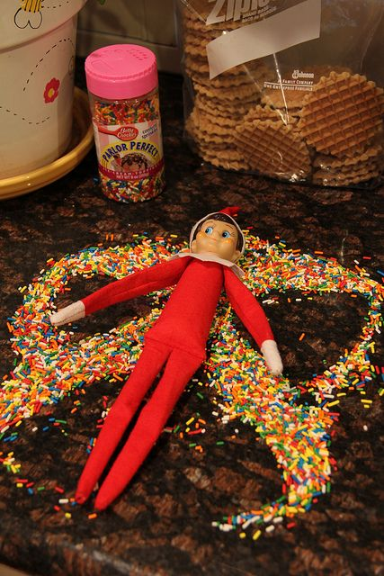 snow angel elf! this one is for all of you that want your kids to love their silly elf on the shelf!
