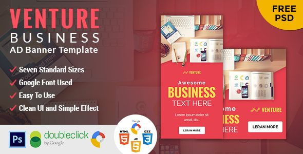 Venture Business Html 5 Animated Google Banner With Images