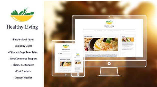 Download Free Healthy Living v1.1 Eye Catching Wordpress Theme
