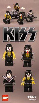 KISS rock band Lego set