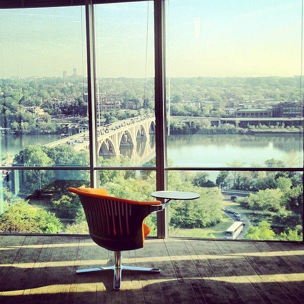 Great Task Chair Overlooking Georgetown At The Rosslyn