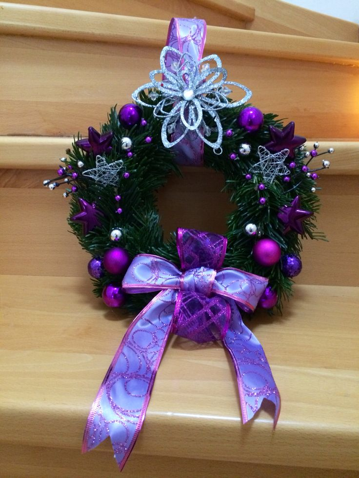 Christmas wreap in violet
