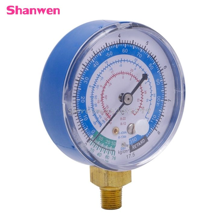 New Air Conditioner R410A R134A R22 Refrigerant Low Pressure Gauge PSI KPA Blue #G205M# Best Quality #Affiliate