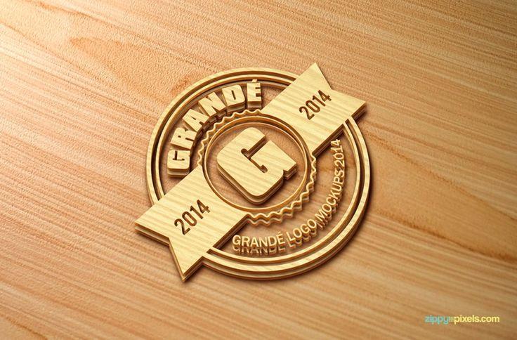 Professional Woodcraft Logo Mockups Vol 1 - 6 PSD Mockups | ZippyPixels