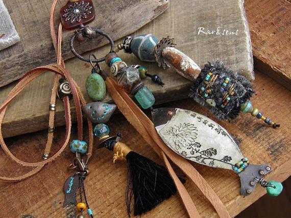 Collier poisson asiatiquecollier vintagecollier tweed et