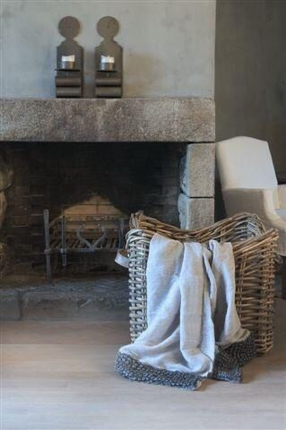 *simple stone mantel*