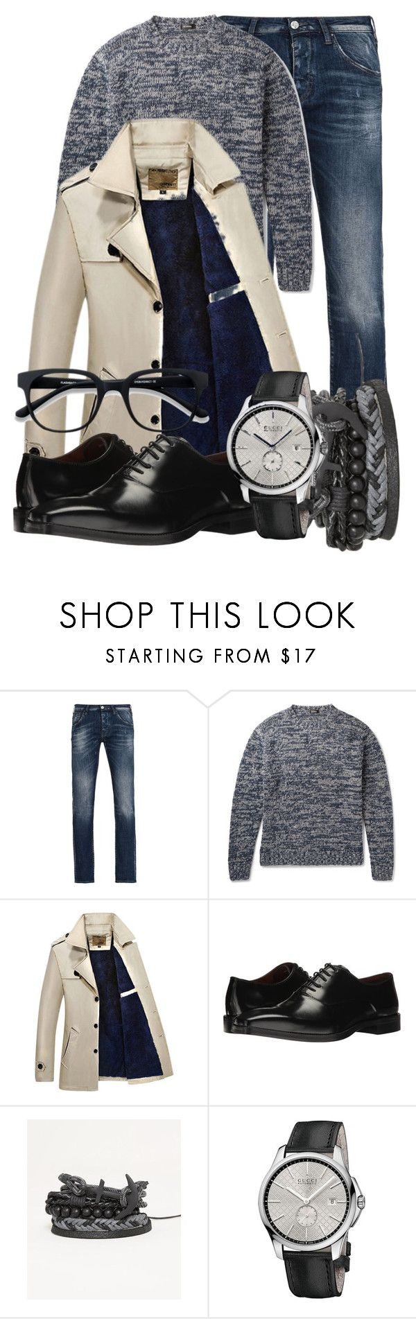 """Cold guy"" by marooninmelbourne ❤ liked on Polyvore featuring Armani Jeans, Jil Sander, Massimo Matteo, BKE, Gucci, EyeBuyDirect.com, men's fashion and menswear"