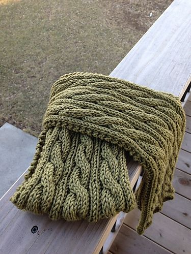 Ravelry: Project Gallery for Irish Hiking Scarf pattern by Adrian Bizilia