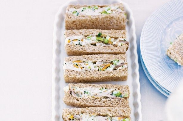 Make these delicious chicken sandwiches part of a party perfect platter!