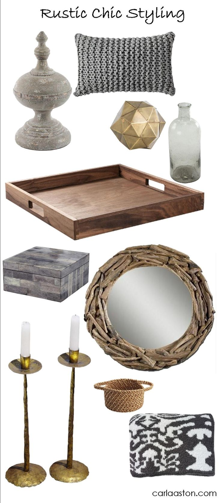 Styling for a #RusticChic #Decor - click through for links to shop