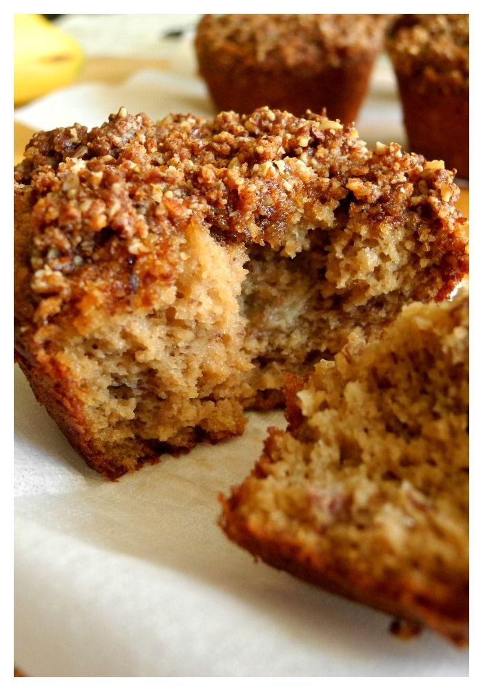 Banana Almond Coffee Cake Muffins {Paleo} - Gluten free, grain free, dairy free, soy free, and refined sugar free.