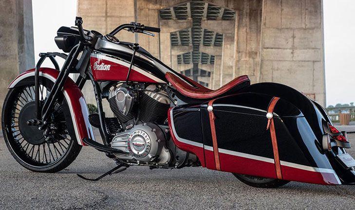 Custom Bike: 2017 Indian Springfield - Gray/Burgundy