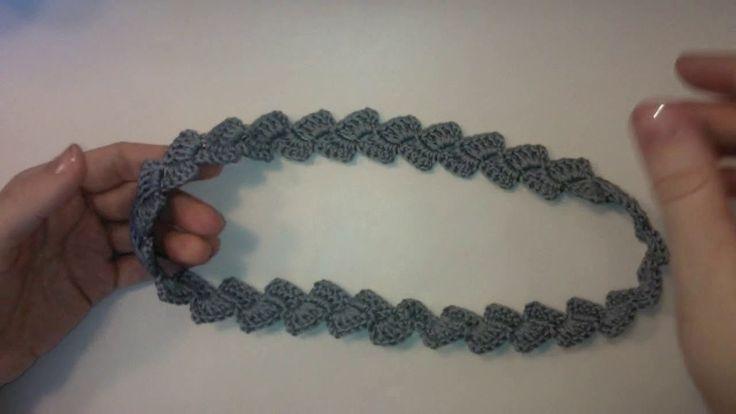 Тесьма - косичка, поясок Вязание крючком для начинающих Crochet Braid