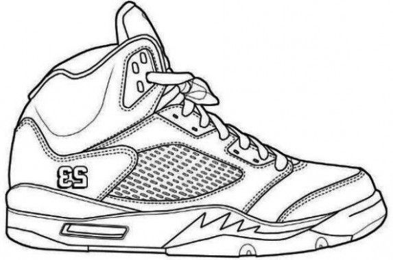 Ten Things You Didnt Know About Jordan Shoes Coloring Pages Printable Arte