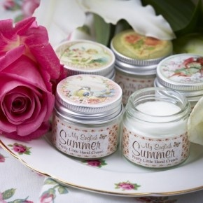 Pack of 2 Moisturising Hand Cream £9.50  Our little tins of gorgeous hand cream are perfect for popping into your handbag.