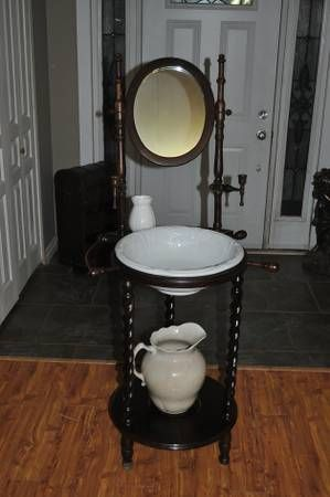 605 best images about do you love antique wash stands on for Wash basin mirror price