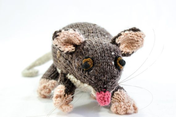 Hand Knitted Animal Toy Australian Ringtail by heaventoseven, $65.00