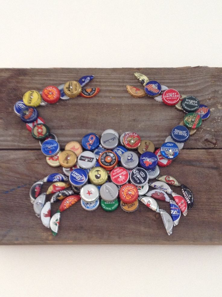 Cool DIY beer bottle cap crab