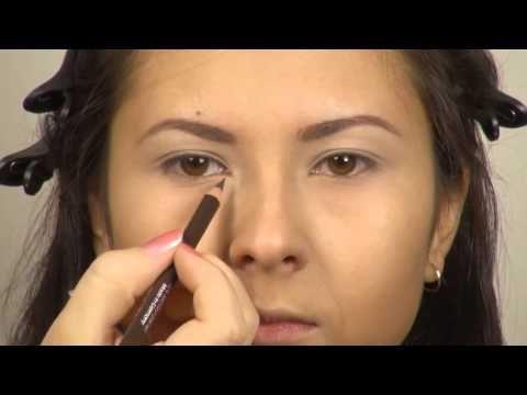 (1) Макияж для маленьких глаз макияж для карих глаз - YouTube
