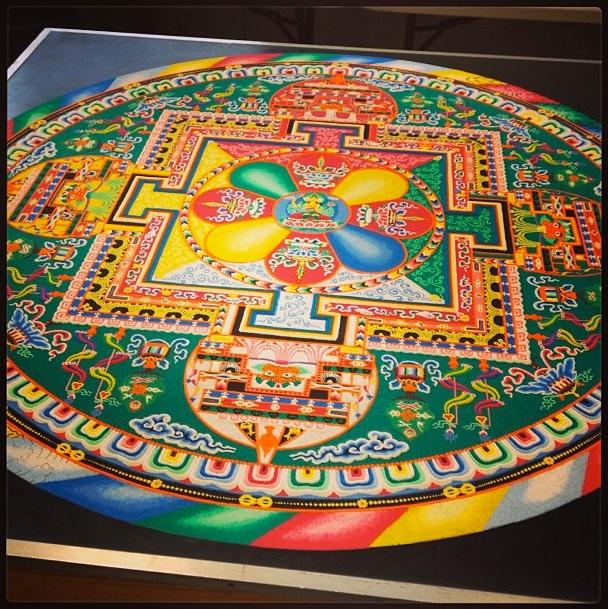 Sand mandala at Texas University made by Tibetan monks
