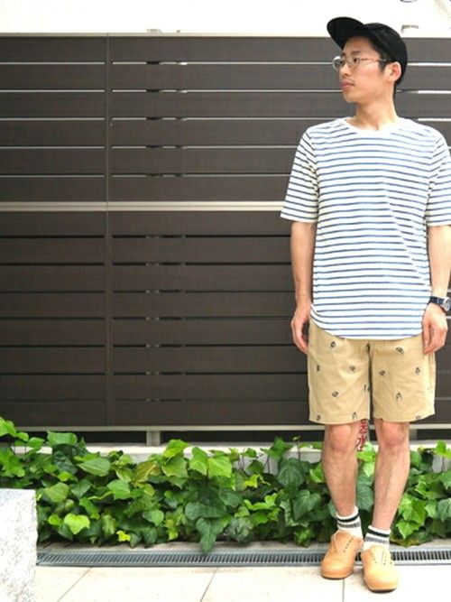 【 CURLY 】 SS BRUSH BORDER TEE と【 LACOSTE L!VE 】 刺繍