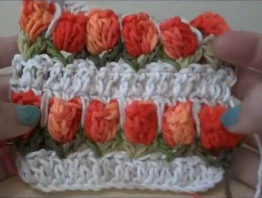 Punto tulipano a uncinetto � Video Tutorial