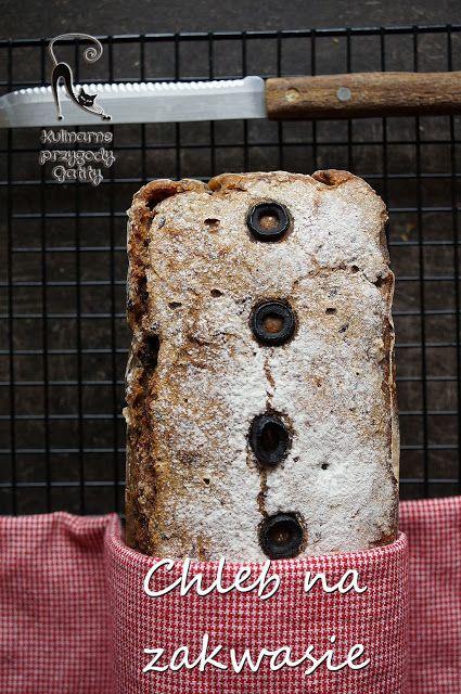 Kulinarne przygody Gatity: Chleb mieszany na miodzie i zakwasie z oliwkami