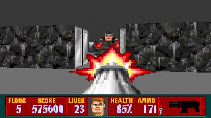 Wolfenstein 3D Celebrating 20 Years of Wolfenstein 3D - The Game That Started It All Play the original Wolfenstein 3D for free in your browser now! http://3d.wolfenstein.com/game_NA.php