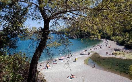 Çıralı beach sees endangered loggerhead turtles swim ashore in summer to lay their eggs.