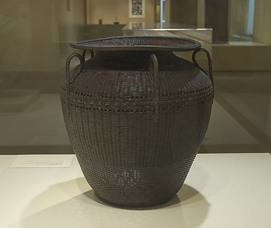 Large Basket | Hayakawa Shôkôsai I  (Japanese, 1815–1868) | Period: Edo (1615–1868) or Meiji (1868–1912) period | 19th century  | Bamboo (madake) with rattan accents
