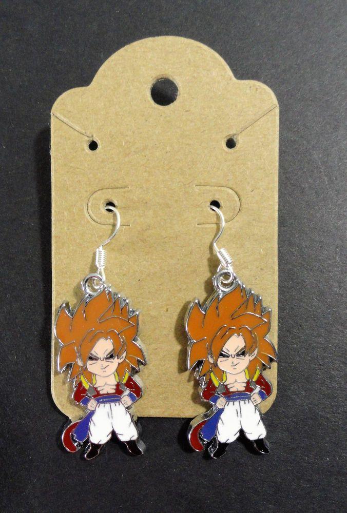 Super Saiyan 4 Gogeta Dragonball Z Dangle Earrings SS4 DBZ Anime