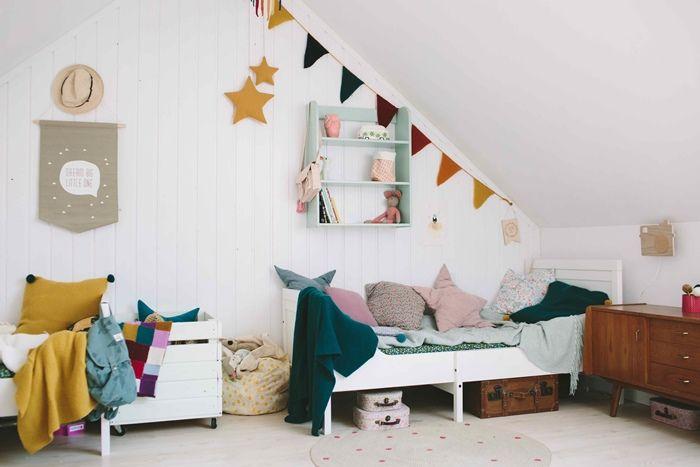 Cómo diseñar un dormitorio infantil perfecto en el desván. Kids rooms, kids decor, dormitorio infantil, girls rooms, attic rooms.