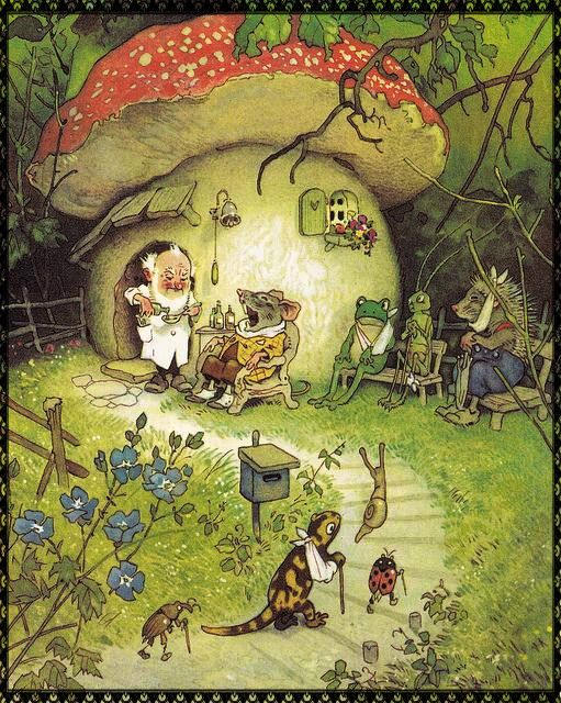 An angel in the garden: Dr G.Nome of Toadstool House & the Fairy Hat Shop