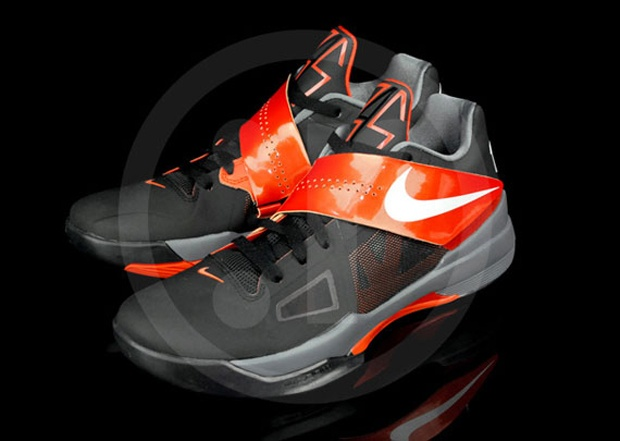 Nike Zoom KD IV Black/Team Orange- New Photos