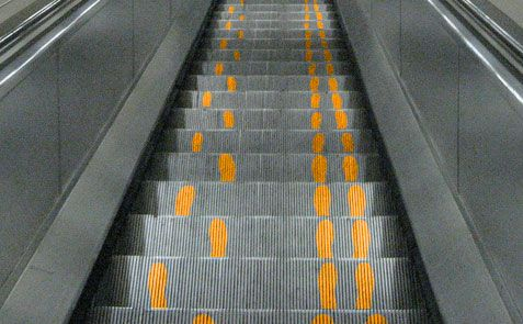 Subtle hints to those who stand on escalators, and those who prefer to keep moving!