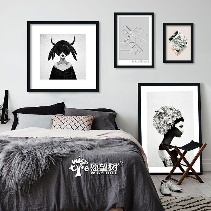 Arte de la pared Pintura de la Lona Posters and Prints Arte Imagen de Impresión Niña de las flores de Pared Cuadros Para la Sala Sin Marco Del Cartel Cuadros